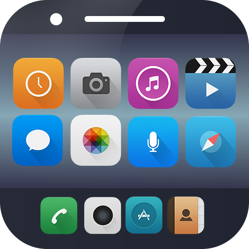 Launcher theme for iPhone7+ app (apk) free download for Android/PC/Windows