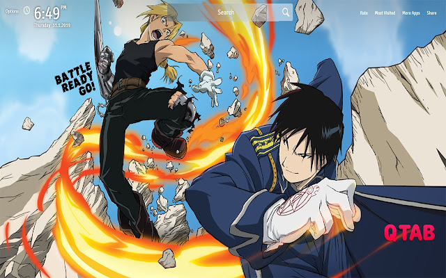 Roy Mustang Wallpapers New Tab
