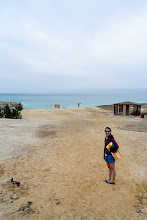 Photo: Serene was excited to be at the Dead Sea!