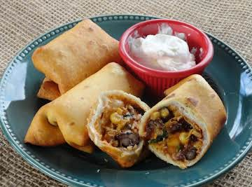 Southwestern Eggrolls (for a crowd)