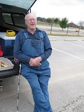 Photo: Bob Sanford and his supply truck.