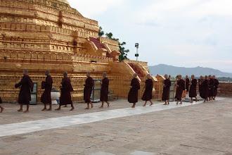 Photo: Year 2 Day 56 -  Procession of Monks at the Stupa of Lawkananda Pagoda