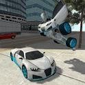 Flying Car Robot Flight Drive Simulator Game 2017 icon