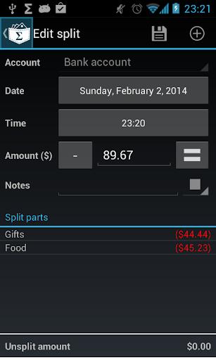 My Expenses Contrib Key screenshot 1