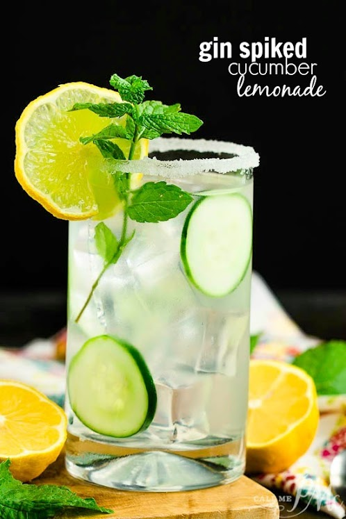Gin Spiked Cucumber Lemonade