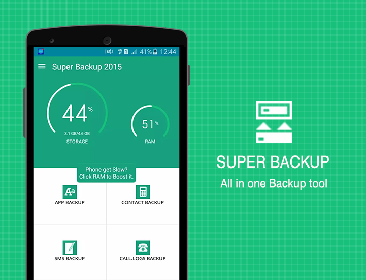 Super Backup - SMS,Contacts,Apps,Settings & More- screenshot