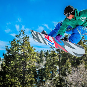 Rail Grab by Jay Woolwine Photography - Sports & Fitness Snow Sports ( ski, snowboard, skiing, snow summit, action, snowboarding )