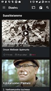 YLE Areena- screenshot thumbnail