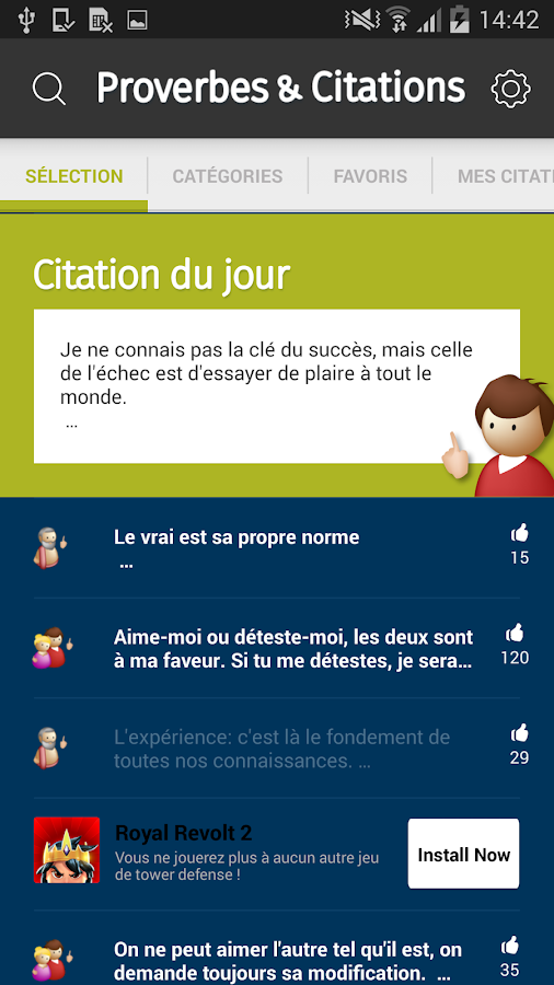 Fabuleux Proverbes & Citations - Android Apps on Google Play FI27