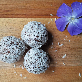 Delicious Chocolate and Coconut Truffles.