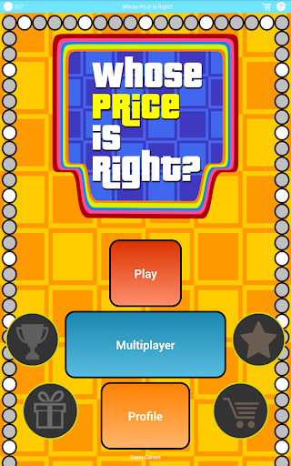 Whose Price is Right? Screenshot