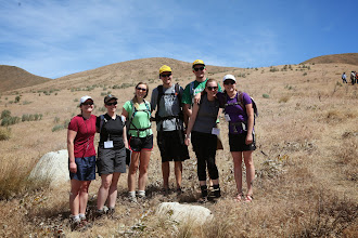 """Photo: Stop 3 - Claire Todd and students (aka """"The Wild Bunch"""")"""