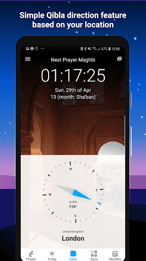 Athan Pro - Azan & Prayer Times & Qibla screenshot 3