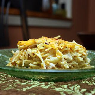 Easy Cheesy Chicken Spaghetti.