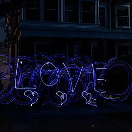 Do what you liove by Donna Sparks - Abstract Light Painting ( color, lightpainting, night )