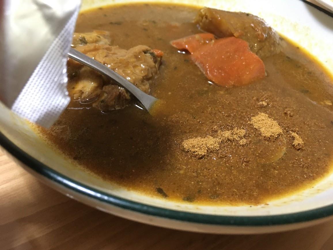 ココイチ スープカレー 後入れのスパイス