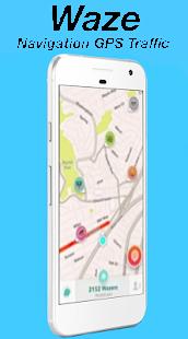 Maps Waze GPS Traffic Alerts Navigation Guide pro - náhled