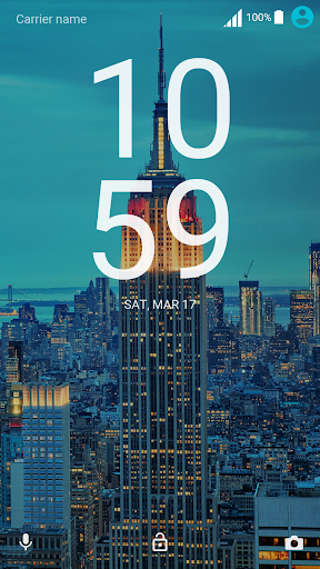 City Lights ND Xperia Theme 3.0.0 screenshots 2