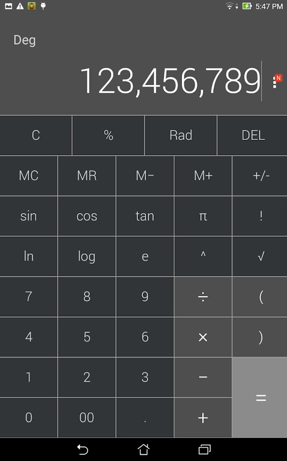 Calculator - unit converter- screenshot