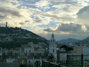 Photo: View of Quito from roof of Vista Hermosa Restaurant