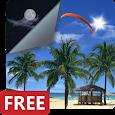 Beach Palms Sea Sunrise 3D Live Wallpaper FREE LWP