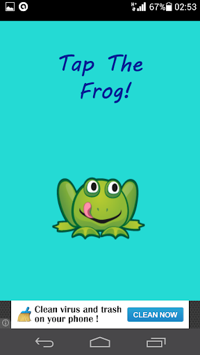 Tap The Frog kids game