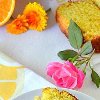 Orange Loaf Cake / Low Calorie Orange Loaf Cake With Olive Oil.