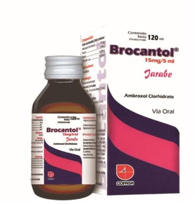 Clorhidrato de Ambroxol Brocantol 15 mg/5 mL x120mL