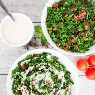 Speedy Quinoa Tabouleh With Tahini Dressing