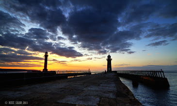 Photo: Last image for the day before I overdo it.  Whitby harbour is a photographers paradise as the sun sets, its a place to sit and watch the sea roll by.