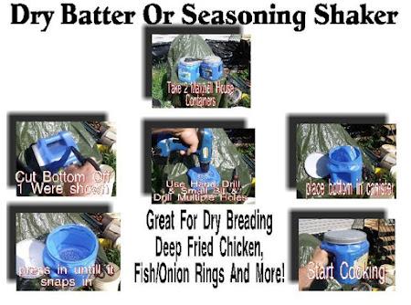 Dry Batter Or Seasoning Shaker For Deep Frying Recipe