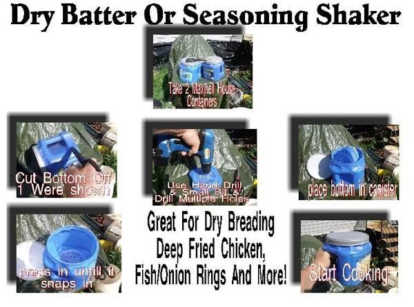 Dry Batter Or Seasoning Shaker For Deep Frying
