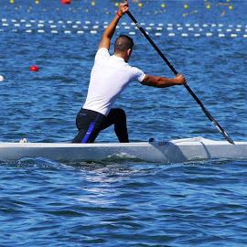 Canoeing - VIII by Joatan Berbel - Sports & Fitness Watersports ( watersports, movement, sports, canoe, colorfull )