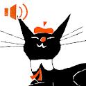 くろねころびんちゃん「ごろごろ」ナレーション付き icon
