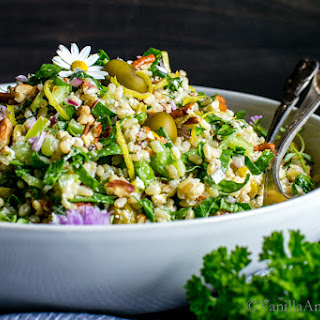 Spinach Pecan Brown Rice Salad