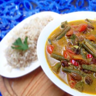 Creamy Vegan Okra Curry.