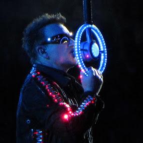 Bono's reflection by Eason Jordan - People Musicians & Entertainers