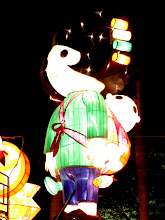 Photo: Day 195 - Illuminated Characters in Park #3