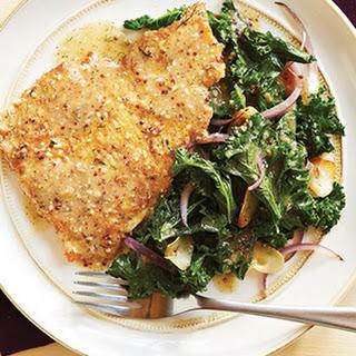 Herbed Turkey Scallopine with Lemon Dijon Kale