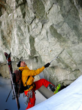 Photo: After first 200 meters up the couloir there's a dead-end.