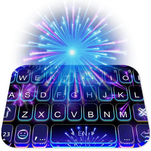 Cool Firework Keyboard Theme