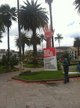 Photo: Interesting government and political messages throughout Ecuador. We read this as buy fair trade.
