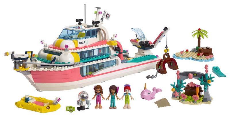 Contenido de Lego® 41381 Barco de Rescate
