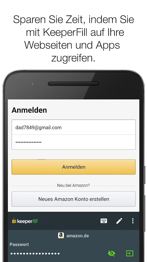keeper passwort manager android apps auf google play. Black Bedroom Furniture Sets. Home Design Ideas