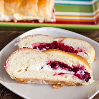 Cranberry and Cream Cheese Filling Bread.