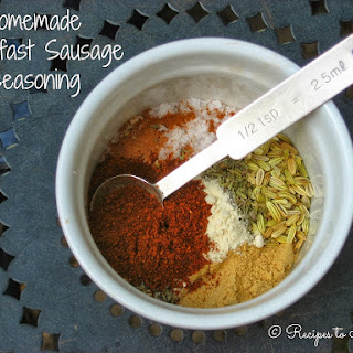Homemade Breakfast Sausage Seasoning.