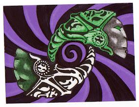 Photo: Mail Art 365 Day 4 card 4a