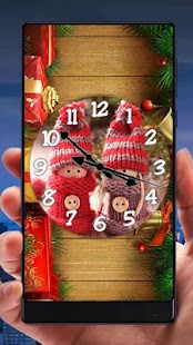 Christmas Analog Clock Live Wallpaper - náhled