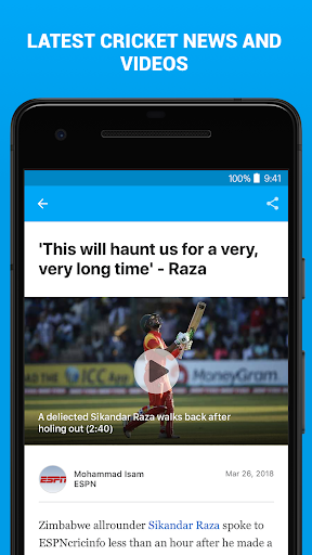 ESPNCricinfo - Live Cricket Scores, News & Videos 6.1.1 screenshots 5