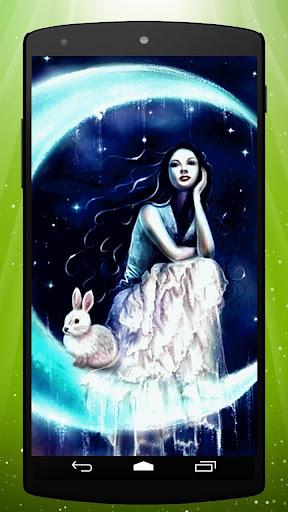 Moon Rabbit Live Wallpaper